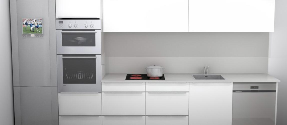 bodelec personalización para obra nueva y promotor cocina Ebro blanco