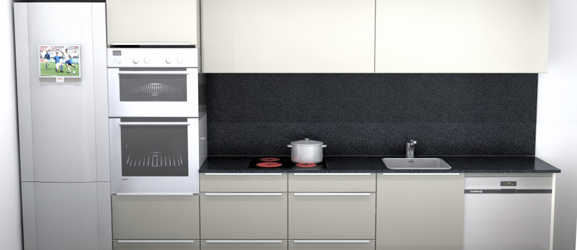 bodelec personalización para obra nueva y promotor cocina Ebro gris